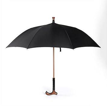 Bastón para caminar, bastón de seguridad Bastón para paraguas Refuerzo multifunción Hombre viejo Paño largo
