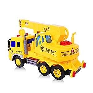 Inertia Crane Truck Toys,Fun Construction Vehicles with Light And Music for Kids