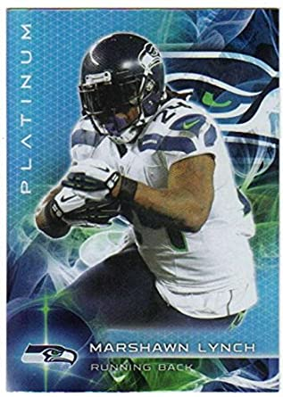 2015 Topps Platinum  91 Marshawn Lynch Seahawks NFL Football Card NM-MT 46e656f4b
