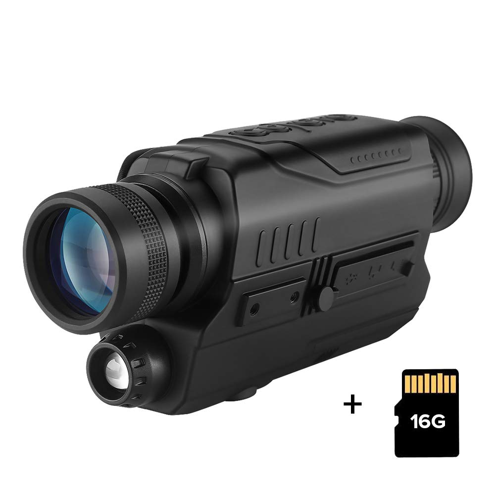 BOBLOV Digital Night Vision Monocular 5x32 Optics Scope Night Vision Infrared Monoculars with 16GB Card for Hunting Observe by BOBLOV