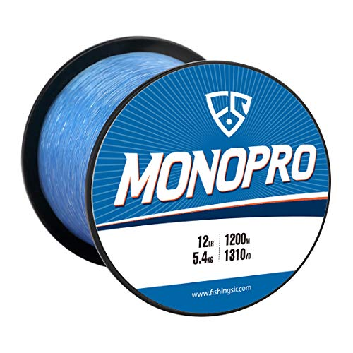 FISHINGSIR 8 LB Monofilament Fishing Line, High Tensile Strength and Abrasion Resistant, Low Memory,Blue (Fishing Core Line)