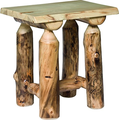 Rustic Aspen Log End Table Aspen Log Furniture