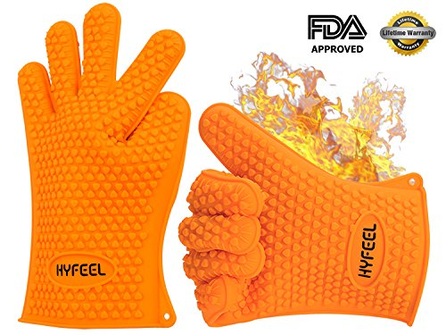 Silicone BBQ Cooking Gloves Resistant