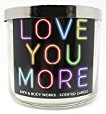 Bath and Body Works White Barn Candle 3 Wick 14.5 Ounce Love You More Black Tea Rose