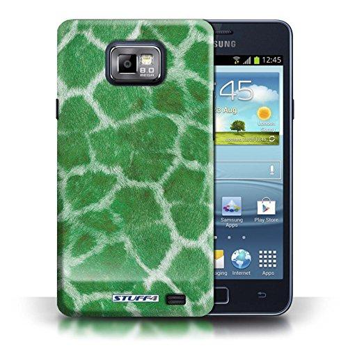 Etui / Coque pour Samsung Galaxy S2/SII / Vert conception / Collection de Girafe animale Peau/Motif