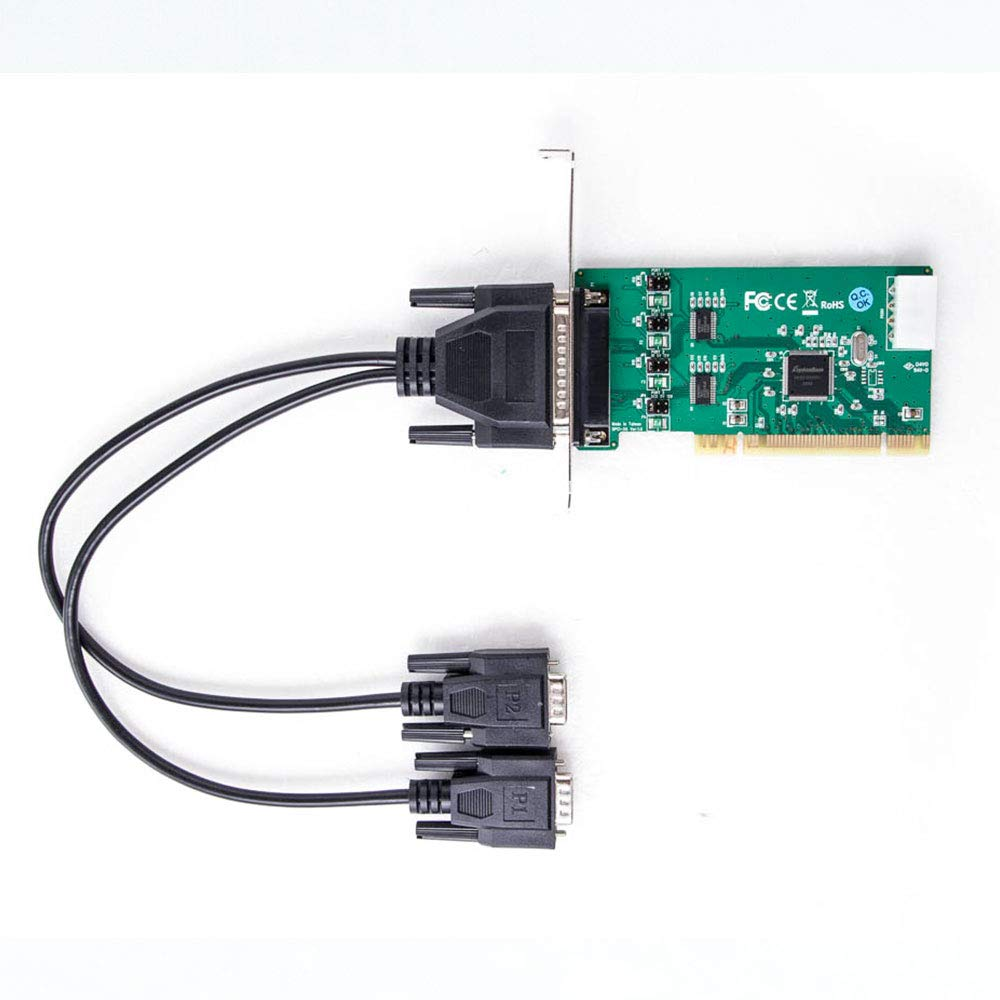 shentek Industrial 2 Port RS232 PCI Card Powered I/O 5V 12V for Windows 10 Linux