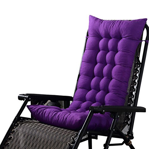 Hoomall Soft Deep Chair Cushion Pad Bench Slipcover Patio Long Chair Pad Outdoor Indoor (Purple Patio Furniture)