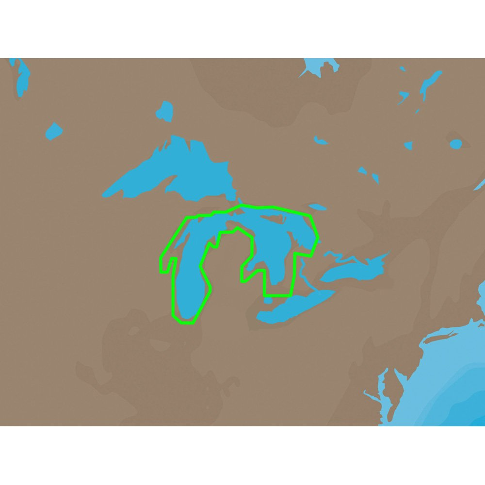 C-MAP NT NA-C102 - Michigan, Huron, No. Channel & Georgian Bay - Furuno FP-Card