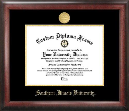 Illinois University Diploma Frame - Campus Images Southern Illinois University Gold Embossed Diploma Frame