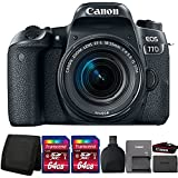 Canon EOS 77D 24.2MP Digital SLR Camera with 18-55mm IS STM Lens and Accessories