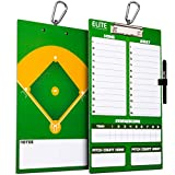 Elite Clipboards Double Sided Dry Erase Coaches Marker Board (Baseball)
