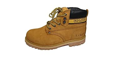 Amazon.com | New Labo Brand Men's Genuine Leather Work Boots ...