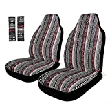 INFANZIA Saddle Blanket Seat Covers, Car Seat Covers with Seat Belt Covers for Trucks, Cars, SUV or Vans - 4PCS, Black/Red