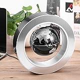 Magnetic Levitating Globe | Coldcedar 4 inch Magnetic Floating Globe -High Rotation LED Light Anti Gravity Globe World Map for Desk Decoration Kids Educational Globe (US Plug)
