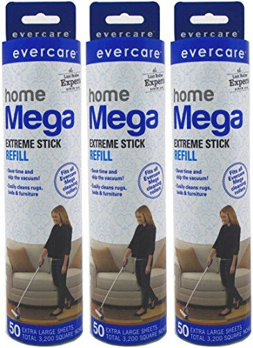 Evercare Mega Large Surface Roller Refill 50 Sheets (3 Pack)