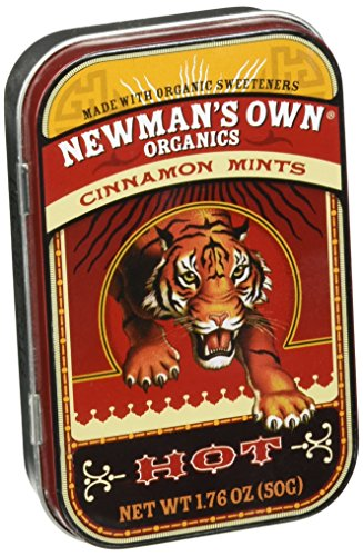 (Newman's Own Organics Mints, Cinnamon, 1.76-Ounce Tins (Pack of 6))