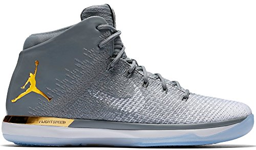 Jordan Nike Air Xxxi Mens Basketskor Kyla Grå / Metalliskt Guld / Vit