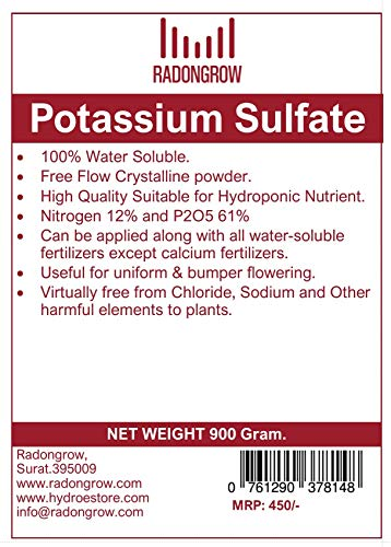 RADONGROW Potassium Sulfate (900 g) (B07PDYJ4V2) Amazon Price History, Amazon Price Tracker