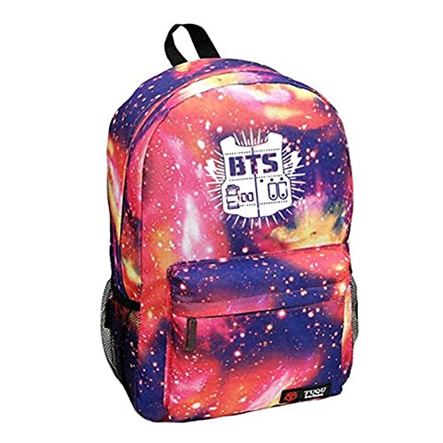 Boys Satchel Bts Bags Starry Pink Sky Kpop Bangtan Backpack Sports Schoolbag AyUwdqYt