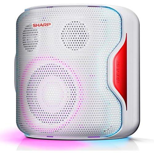 chollos oferta descuentos barato Sharp PS 919 WH Altavoz con TWS Bluetooth 5 0 Puerto USB Sonido 3D Luces Multicolor Impermeable IPX5 130 W de Potencia y Batería Integrada Blanco