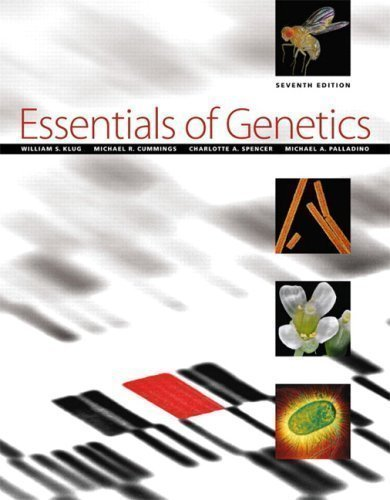 Essentials of Genetics (7th Edition) 7th (seventh) Edition by Klug, William S., Cummings, Michael R., Spencer, Charlotte A (2009)