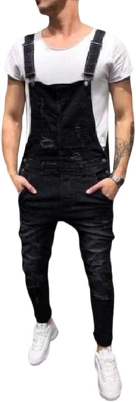 Romancly 男性ジャンプイットパッチワーク調整可能なズボンパンツオーバーオールレタービブ足首ジーンズ