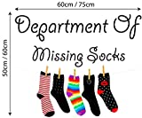laundry room makeovers Full Colour Department Of Missing Socks Wall Decal Sticker Quote Utility Room Washing Laundry