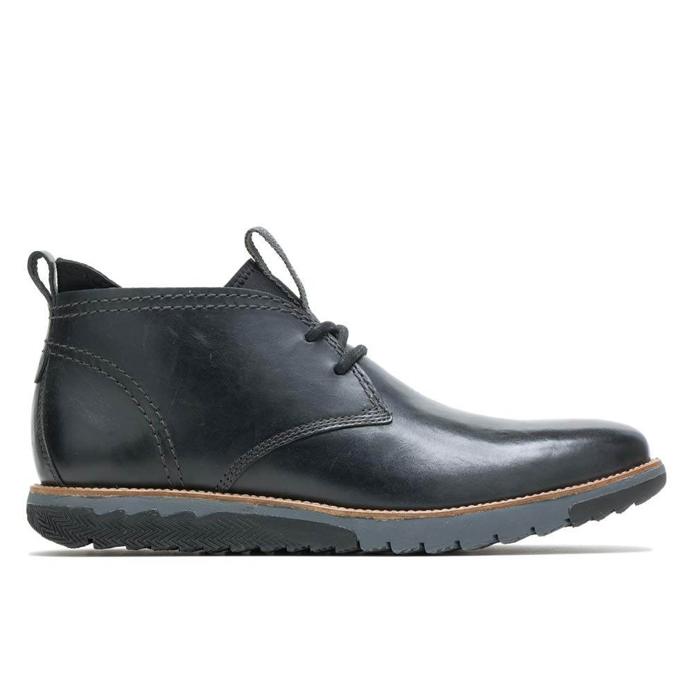 Hush Puppies Men's Active Expert Oxford Boot, Black Leather, 13 M US by Hush Puppies