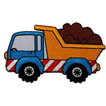 Heavy Truck Dump Truck DIY Applique Embroidered Sew Iron on Patch DT-001