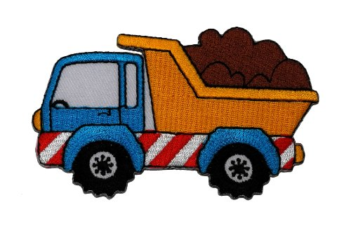 (Heavy Truck Dump Truck DIY Applique Embroidered Sew Iron on Patch DT-001 )