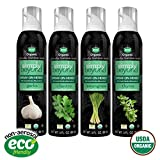 Simply Beyond, Organic Spray-On Herbs 4-Pack (Garlic, Cilantro, Lemongrass, Thyme), 3 Fl. Oz