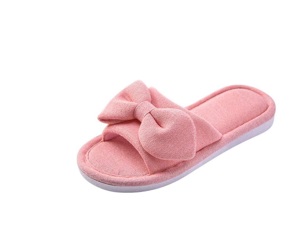 ZiXing Femmes Mignon Doux Intérieur B077B9SSRV Slip Pantoufles Bout Ouvert Mignon Slip sur Accueil Chaussures Maison Pantoufles Red 7847b07 - reprogrammed.space