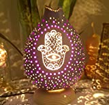 Hamsa Hand Gourd Lamp Night Light Amulet Talisman Protection Peace Harmony Health Home Decor Wall Art Decal