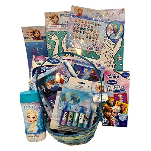 Frozen Baby/Toddler Girls Complete Easter/Birthday Toys Gift Basket (50+ Pieces) ()