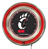 "Cincinnati Bearcats HBS Neon Red Black College Battery Powered Wall Clock (15"")"