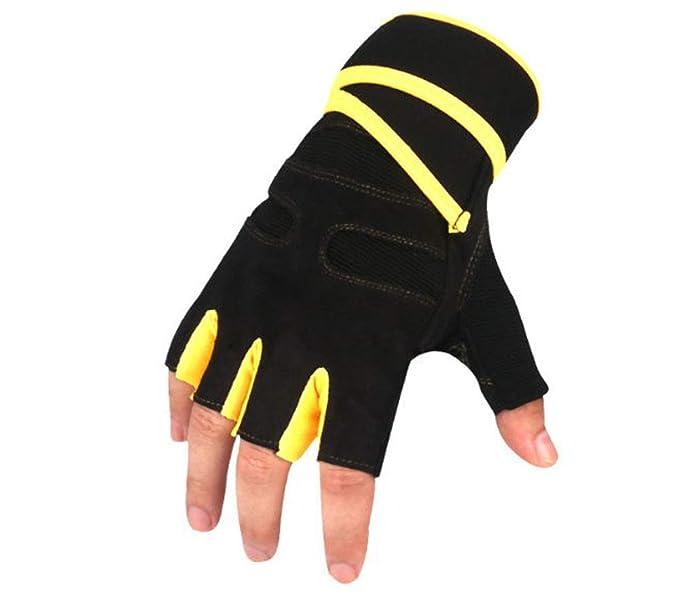 Unisex levantamiento de pesas guantes de gimnasio entrenamiento crossfit