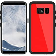 Galaxy S8 Waterproof Case, Tomplus Underwater Case for Galaxy S8, Dust Proof, Snow Proof, Shockproof, Heavy Duty Touch Screen Protective Carrying Cover for Samsung Galaxy S8 (Red)