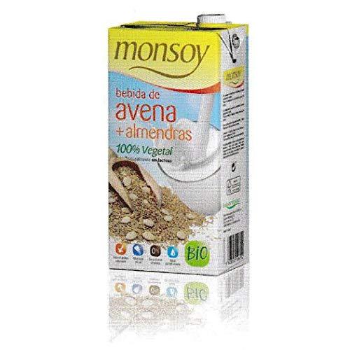 Bebida BIO de avena y almendra Monsoy, 1 L: Amazon.es ...