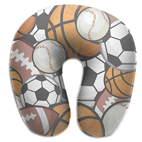 (Lesi Yes U Shaped Neck Pillow Memory Foam Comfortable Soccer Football Indoor Outdoor Travel Airplane Car Office School )