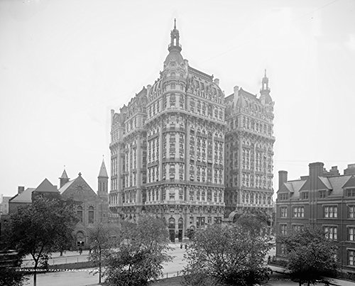 Nyc The Ansonia 1905 Nthe Ansonia Apartment Building On Broadway In New York City Built In 1899 Photograph C1905 Poster Print by (18 x 24)