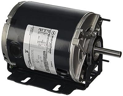 Marathon 48S17D2054 Belt Drive Motor, 1 Split Phase, Open Drip Proof, Resilient Ring Mount, Ball Bearing, 1/4 hp, 1725 rpm, 1 Speed, 115 VAC, 48YZ Frame