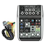 Package - Behringer Xenyx Q502USB Premium 5-Input 2-Bus Mixer + 1 EMB Emic800 Microphone