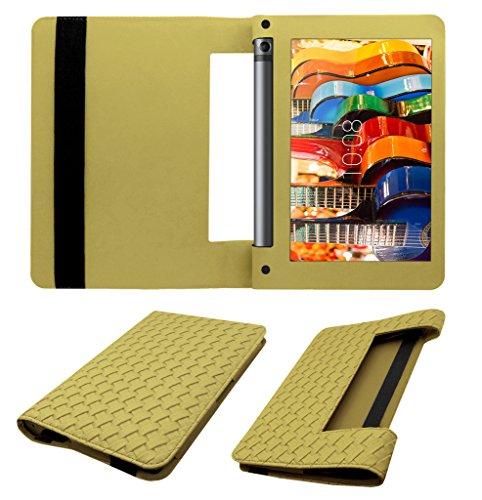 Acm Designer Executive Case Compatible with Lenovo Yoga Tab 3 8 Tablet Flip Cover Golden