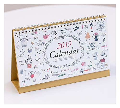 (Monthly Desk Calendar 2019, July 2018 - December 2019, 10x6.3 inches, Daily Calendar Planner for School, Office, Home Use)