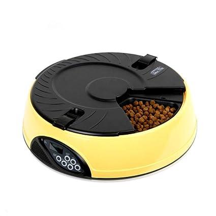 OFVV 6 Comida Alimentador De Mascotas Automático Inteligente Pantalla LCD Dispensador De Alimentos para Gatos Dispensador