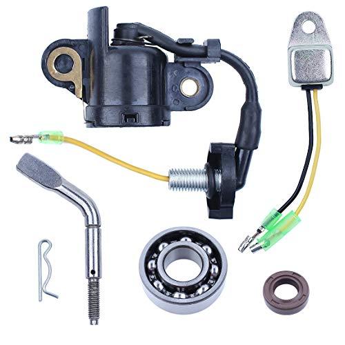 (Low Oil Sensor Alert Switch Governor Shaft Bearing Oil Seal Kit Fit Honda GX340 GX390 188F 5kw Gasoline Generator Engine Motor)