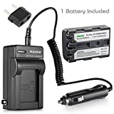 Kastar 1 X NP-FM50 InfoLithium Battery and Charger Kit for Select Sony M Type Equivalent Camcorder/Digital Camera