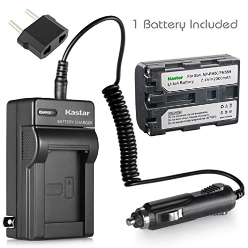Kastar 1 X NP-FM50 InfoLithium Battery and Charger Kit for Select Sony M Type Equivalent Camcorder/Digital Camera ()