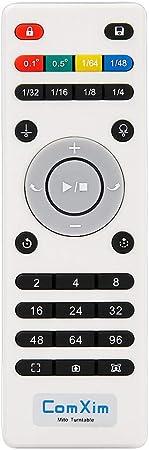 Comxim 360 Grad Drehteller Für Produktfotografie 20 Kg Kapazität 20 Cm Durchmesser Fernbedienung Winkel Geschwindigkeit Richtung Verschiedene Rotationsmodi Küche Haushalt