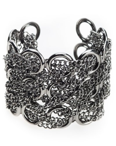Jewelry Nexus Designer Multichain Cuff Bracelet